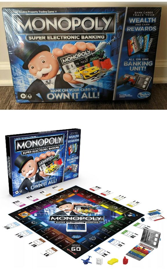 Monopoly Super Electronic Banking In 2020 Electronic Banking Monopoly Banking