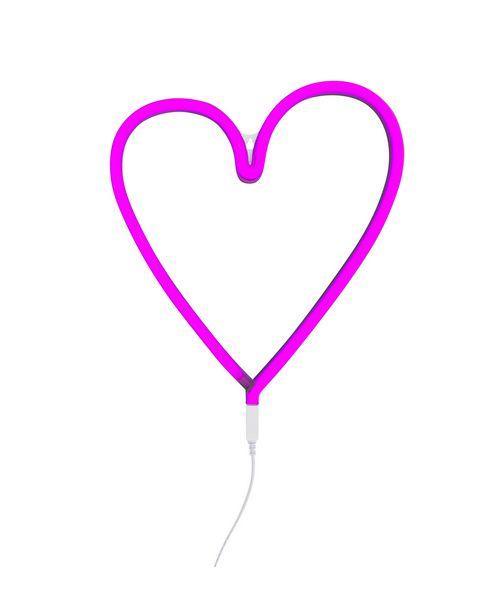 Neon lamp hart roze
