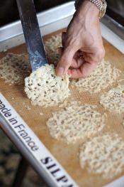 parmesean crisps are so easy, but look impressive
