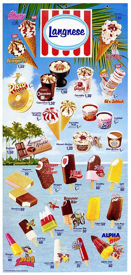 Eistafel der 80er Jahre