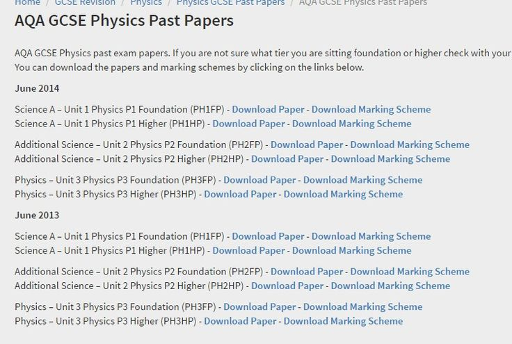 AQA GCSE Physics Past Papers - Revision Science
