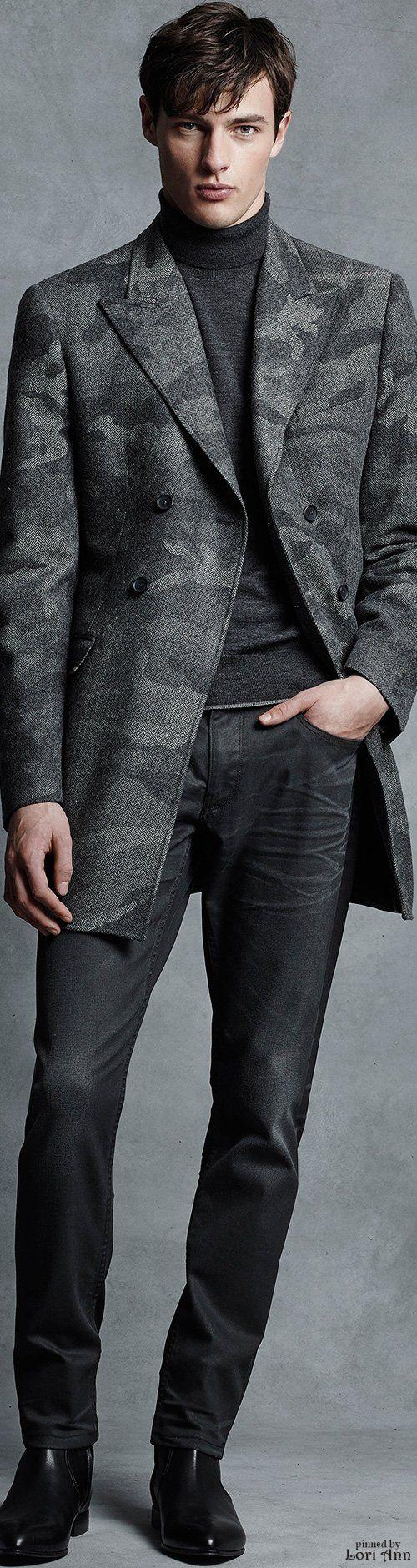 Michael Kors Fall 2015   Menswear   Men's Fashion   Smart Casual   Men's Gray Outfit   Moda Masculina   Shop at designerclothingfans.com