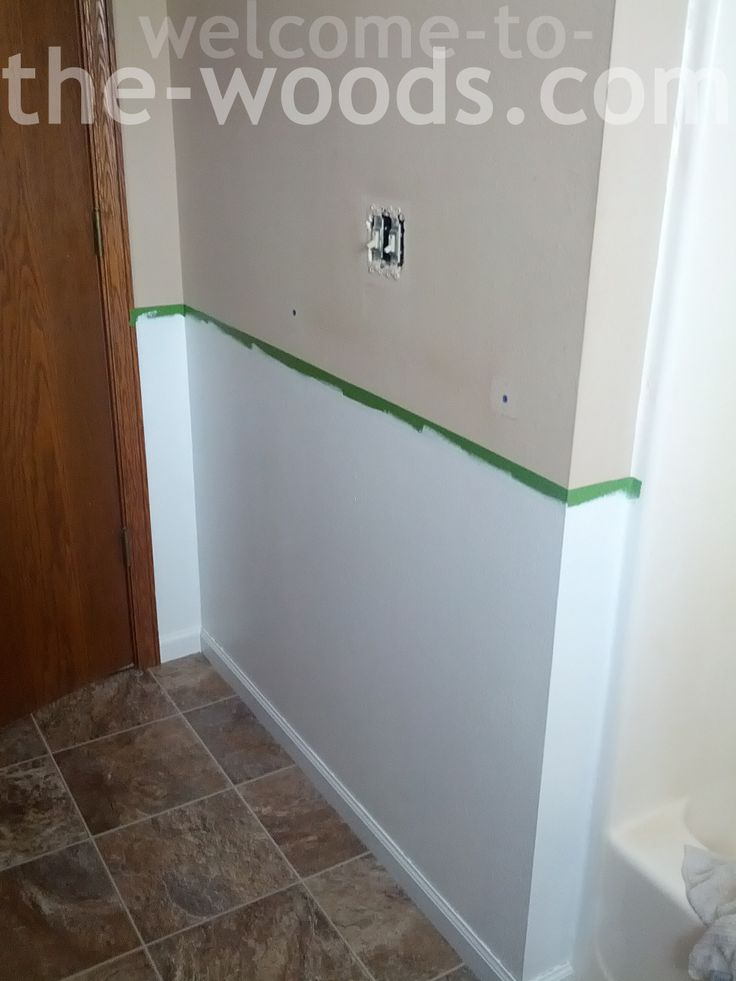 Learn how to create faux wainscoting with just paint and wood trim! I love this look for small spaces like the bathroom because it adds so much interest.