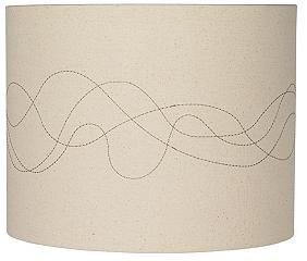 Linen Abstract Stitched 11-Inches-H Lamp Shade - Eurostyling website