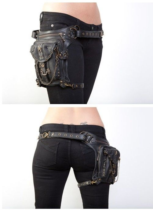 COOLEST FANNY PACK I'VE EVER SEEN! The leg strap makes it conveniently stable. I'd love to have it, but in brown.