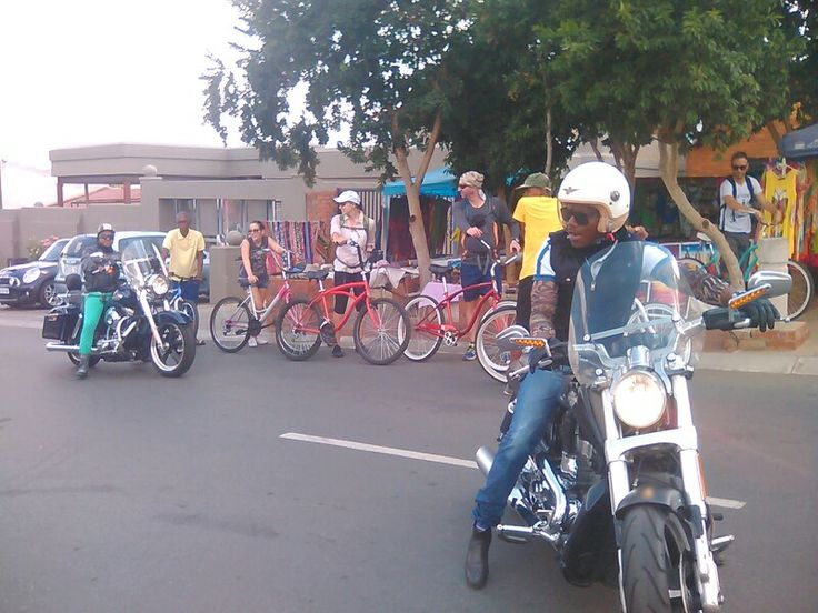 #CycleMySowetoTour with bikers