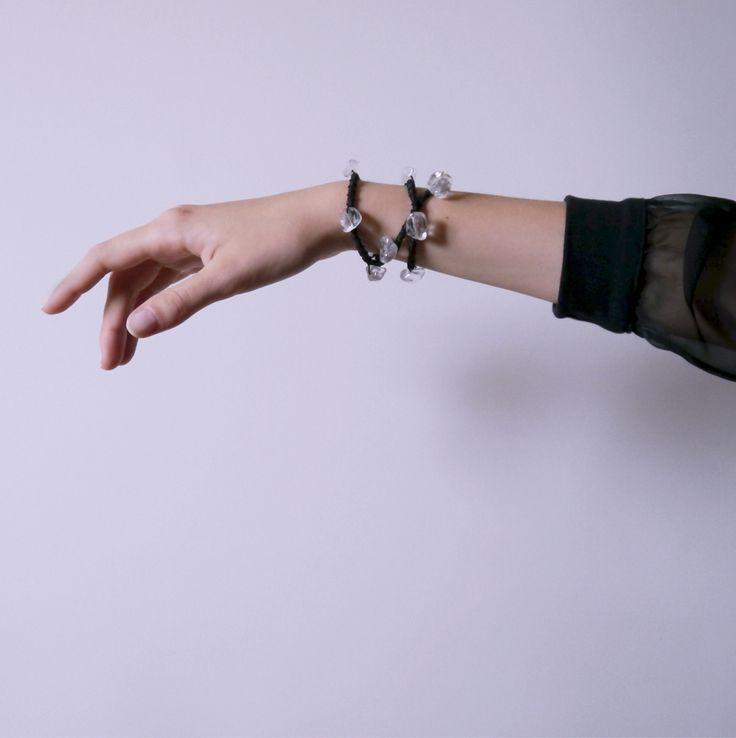 UrbanPrincess headband, bracelet, crown and necklace in one with Rock Crystal from Violent Mist #bracelet #headband #hairpiece #headpiece #crown #rockcrystal #violentmist #necklace