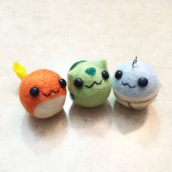 This listing allows you to have a custom-made pokemon keychain of your choice. It will be handmade from needle felting using 100% high quality