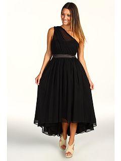 Jessica simpson one shoulder gathered evening dress, zappos $169.99