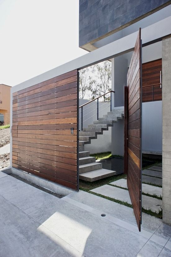 "cabbagerose: ""wooden gate + floating stairs """