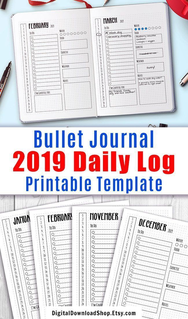 Weight Watchers Points List 2020 Pdf.2019 2020 Bullet Journal Daily Template Printable 2020