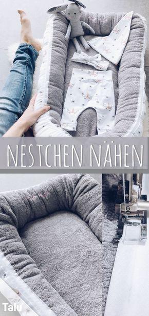 Nestchen nähen – Kostenlose Anleitung für ein Babynest