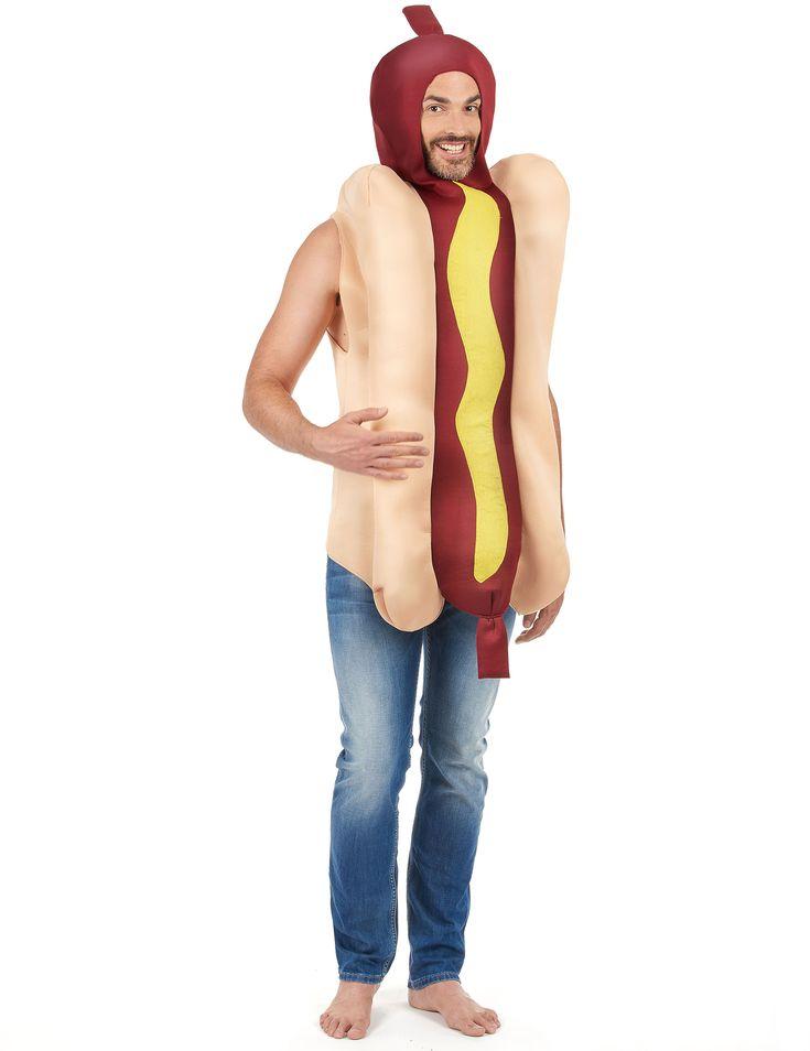 Trek in een leuk feest en wil je er goed uit zien? In dit pak ben je om op te eten! Kijk dus uit als je met carnaval naast de hotdog kraam staat!   Krijg vele hongerige blikken van vrienden en omstanders met dit overheerlijke hotdog pak!   Dit is leuk