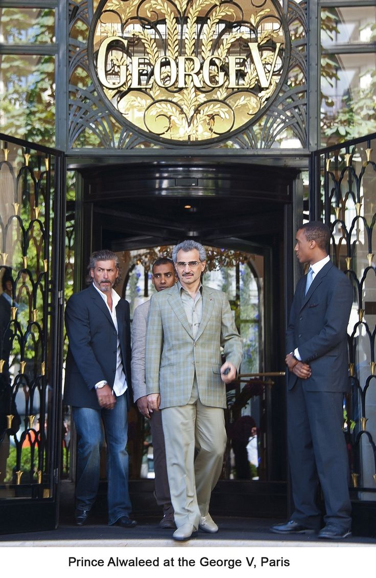 """Kingdom Holding's George V, Paris Awarded """"Best City Hotel Worldwide""""      Prince Alwaleed: """"George V hotel is the best & most prestigious in the world"""""""