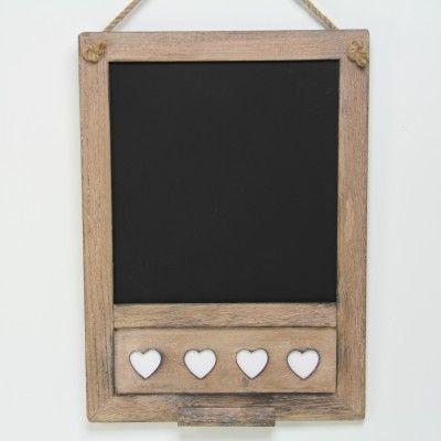 Rustic Chalk board & Hearts Memo Board Blackboard Shabby Chic Home Product www.prettymaison.co.uk 01353 665141