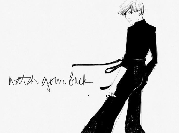 Watch your back - Garance Doré illustration