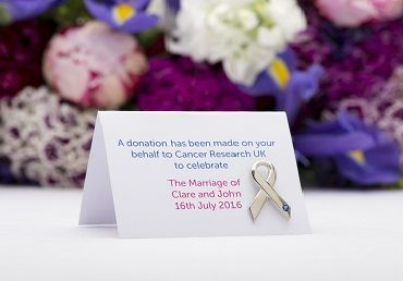 Cancer Research Wedding favours