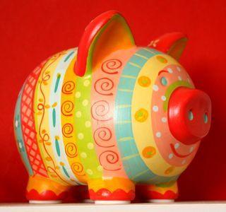 instagram piggy bank hand painted - Buscar con Google