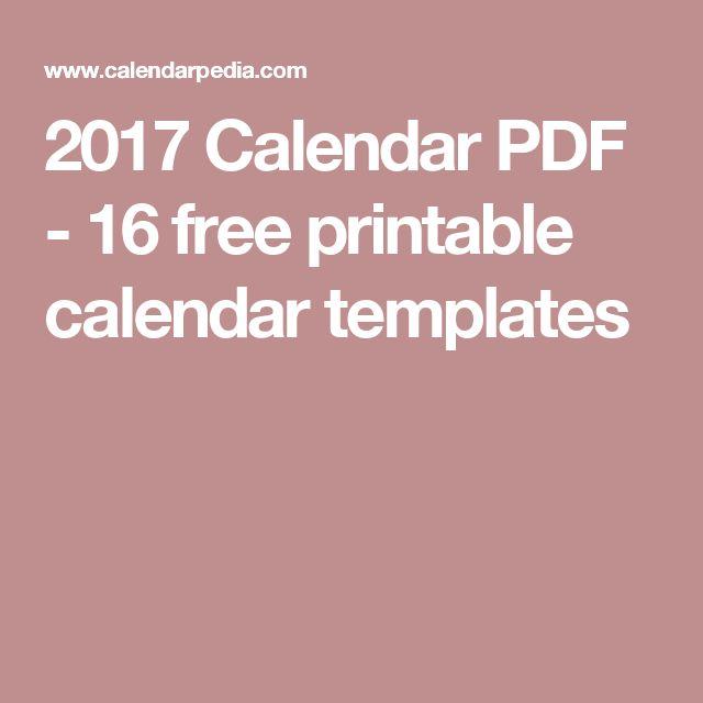 25+ beste ideeën over 2017 printable calendar template op Pinterest - printable calendar pdf