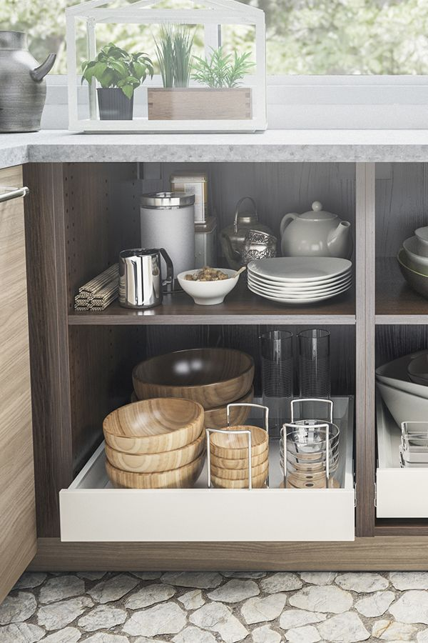 IKEA SEKTION kitchens help to keep you organized and to keep your kitchen looking sleek!