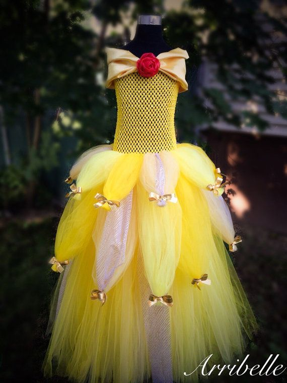 Princess Belle Tutu Dress by Arribelle on Etsy