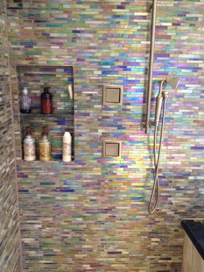Bathroom Remodel Glass Tile 541 best design ideas images on pinterest | glass mosaic tiles