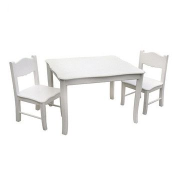 Classic White Table & Chairs