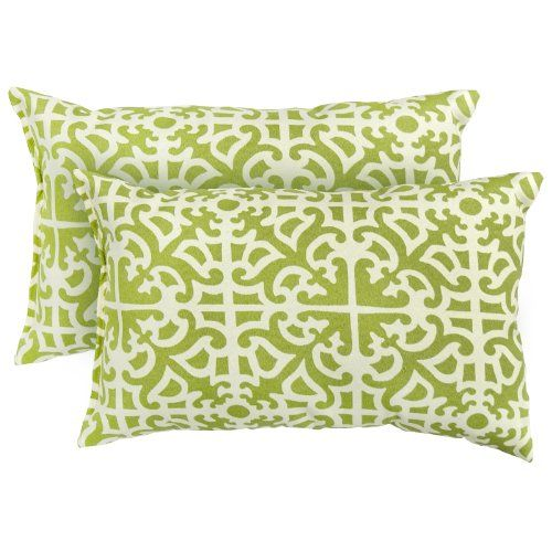 Greendale Home Fashions Rectangle Indoor/Outdoor Accent Pillows, Grass, Set of 2 Greendale Home Fashions http://www.amazon.com/dp/B007CW0UCM/ref=cm_sw_r_pi_dp_eU18ub1QQG65Y