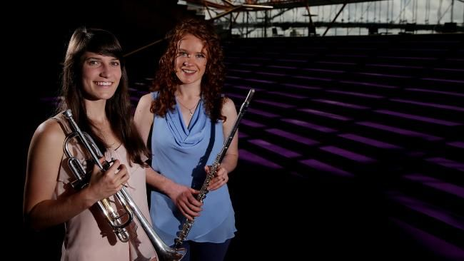 Jenna Smith and Kim Falconer have been selected for the Sydney Symphony Orchestra's 2017 Fellowship Program. Pictures: Daniel Aarons