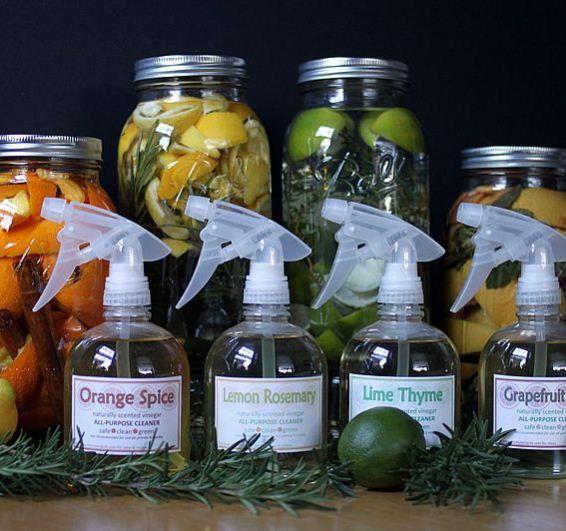 Maak je eigen citrusazijn als basis voor allerlei natuurlijke schoonmaakrecepten.