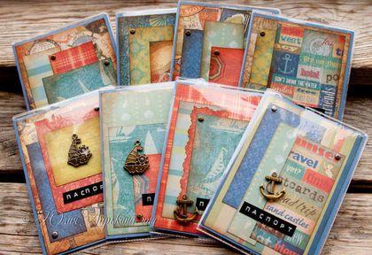 """Обложка для паспорта """"Морские глубины"""" (в ассортименте) - тёмно-синий"""