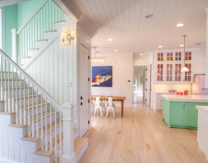 House of Turquoise: The Little Beach House - WaterColor, Florida | Love the bead board!