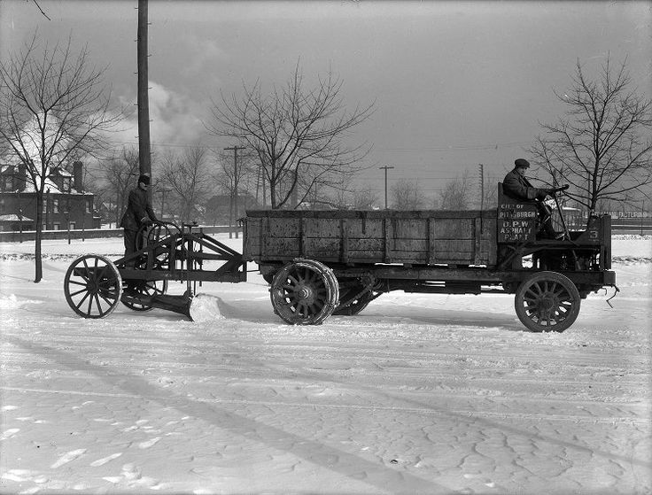 Vintage Photos of Pittsburgh's First Snow Plows - The 412 - January 2015
