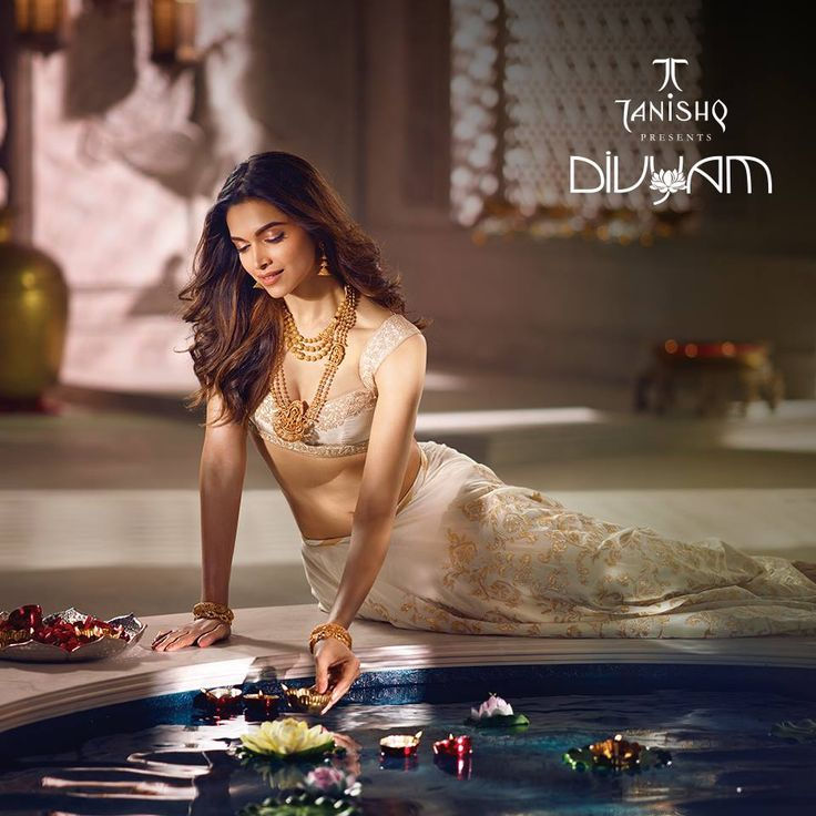 Deepika Padukone New PhotoShoot for Tanishq jewelry Divyam collection