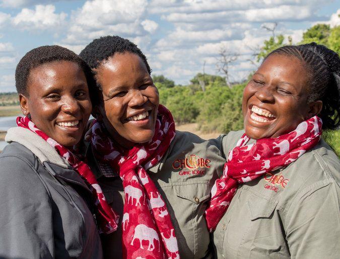 All-female guides at Chobe Game Lodge, Botswana.