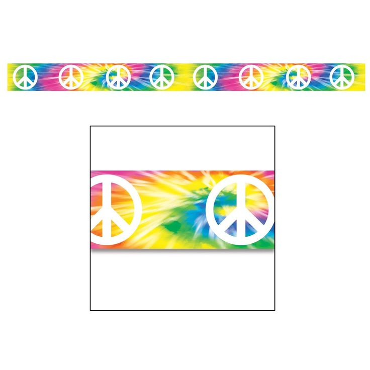 Peace Sign Party Tape, 74692