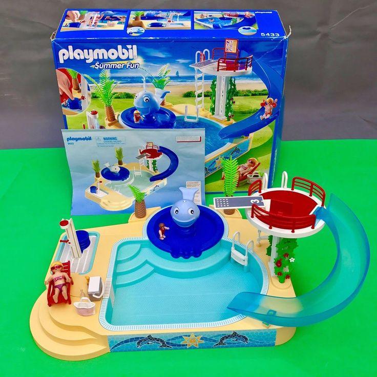 Les 25 meilleures id es de la cat gorie piscine playmobil for Playmobil 5433 famille avec piscine et plongeoir