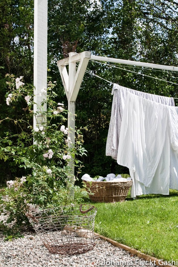 Nothing like clothes hanging on the line to dry.  There  is no smell like it.