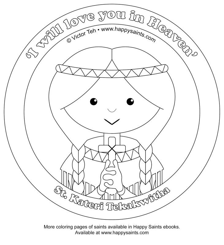 patron saint coloring pages - photo#28