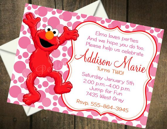 Elmo Girl Themed Printable Birthday by MyPerfectPartyStudio, $5.00