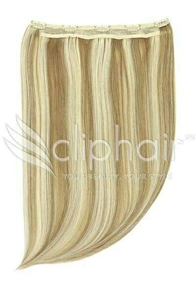Quad Weft Extensions -A revolutionary hairpiece containing FOUR strips of hair securely sewn onto one thick weft. Shop now! #humanhair