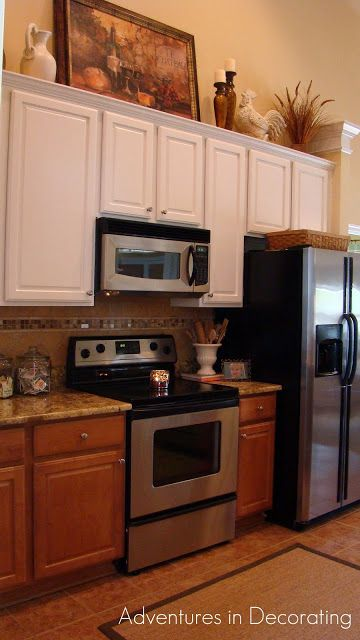 Adventures in Decorating: kitchen cabinets - BM White Dove