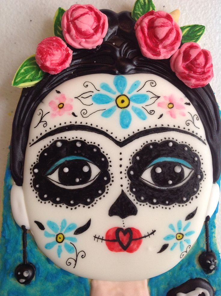 Galleta Frida K. Dia de mertos Mexico. Galletas mexicanas. Mexican cookies. Decoracion inspirada en la obra de Mara Cardenas.