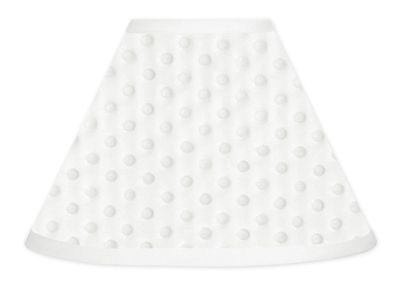 Buy Solid White Minky Dot lamp shade by Sweet Jojo Designs and add a modern touch to your room. BabysOwnRoom.com: Free Shipping, Great Service!