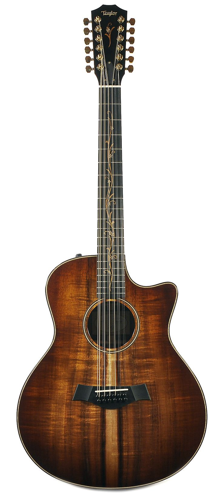 TAYLOR K66ce 12-String Grand Symphony Hawaiian Koa | Chicago Music Exchange  If I ever decided to get a 12 string, this would be what I choose to get.