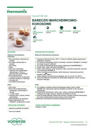 Babeczki marchewkowo kokosowe