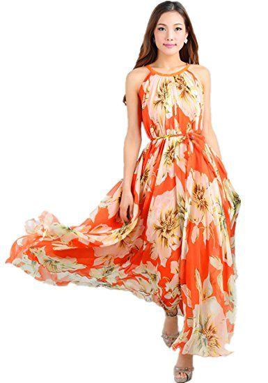 79c1665149 Medeshe Comfortable Lightweight Chiffon Prom Evening Maxi Dress Full  Bridesmaid Dress: Amazon.co.uk: Clothing