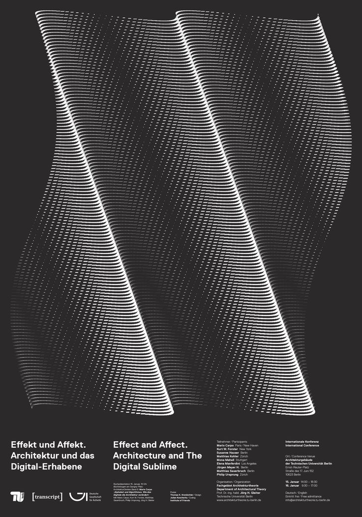 """""""Effect and Affect. Architecture and The Digital Sublime."""" 1 Minimalist poster by Thomas Kronbichler."""
