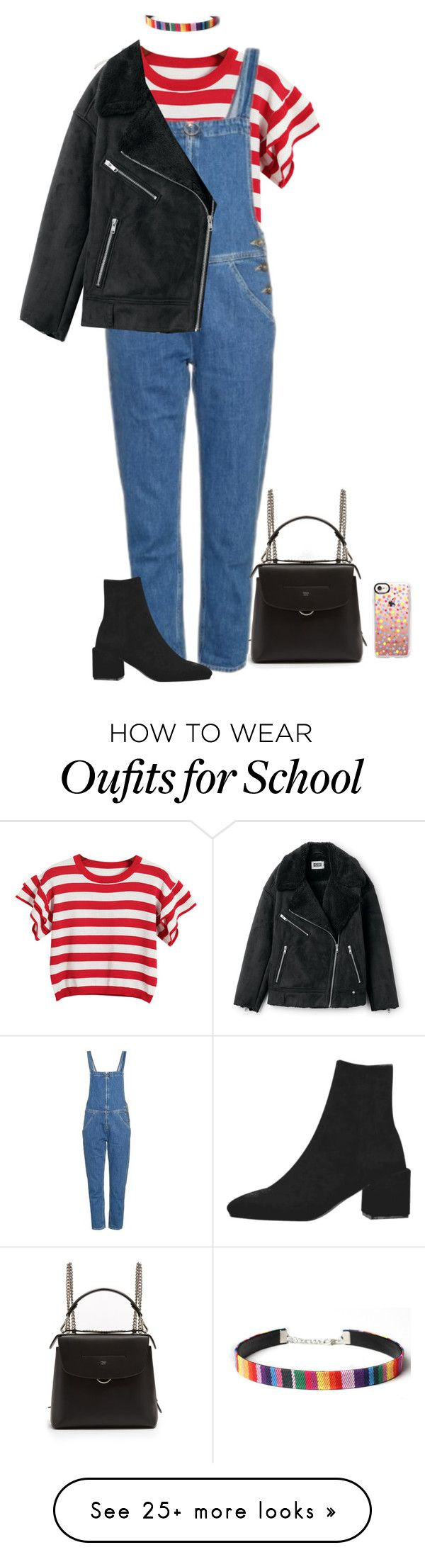 """""""COLORFUL BLACK SOUL"""" by xxkaleighxx on Polyvore featuring Chicnova Fashion, M.i.h Jeans, Fendi, WithChic and Casetify"""