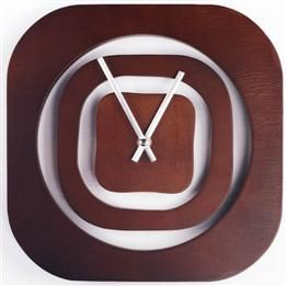 Simple Home Decor Numberless Wood Square Wall Clock